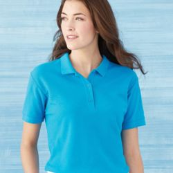 Premium Cotton® Women's Double Pique Sport Shirt Thumbnail