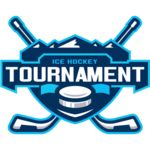 Tournament Ice Hockey logo template Thumbnail